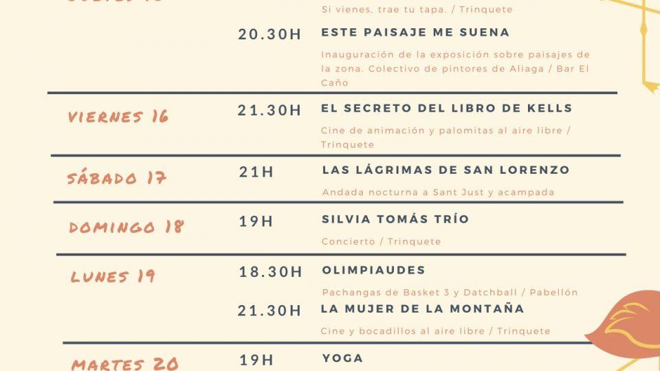 Programa Semana Cultural 2019